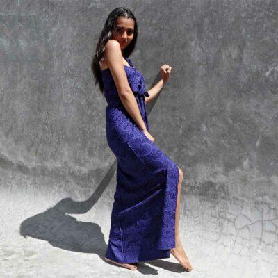 Batik Sarong – Rayon – Beautiful Blue