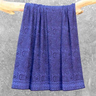 Batik Sarong Rayon Beautiful Blue African Swirl