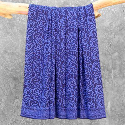 Batik Sarong Rayon Beautiful Blue Mim Flowers
