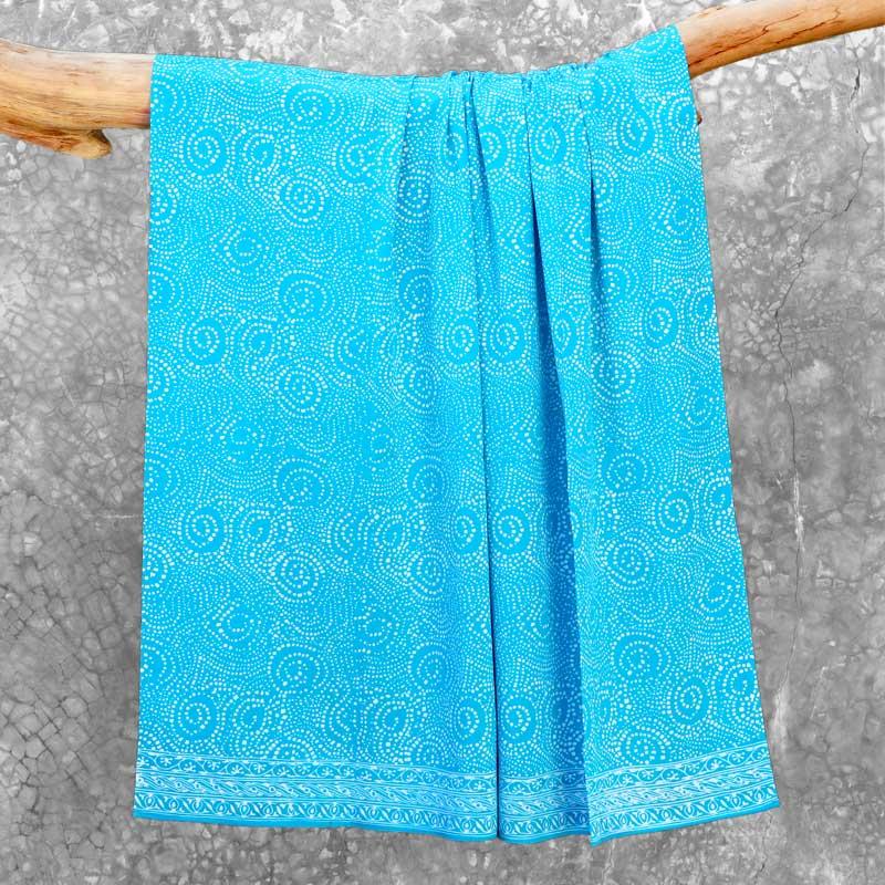 Batik Sarong Rayon Bermuda African Swirl