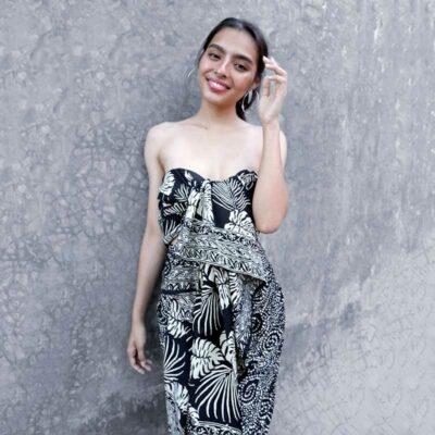 Batik Sarong – Rayon – Black Cream