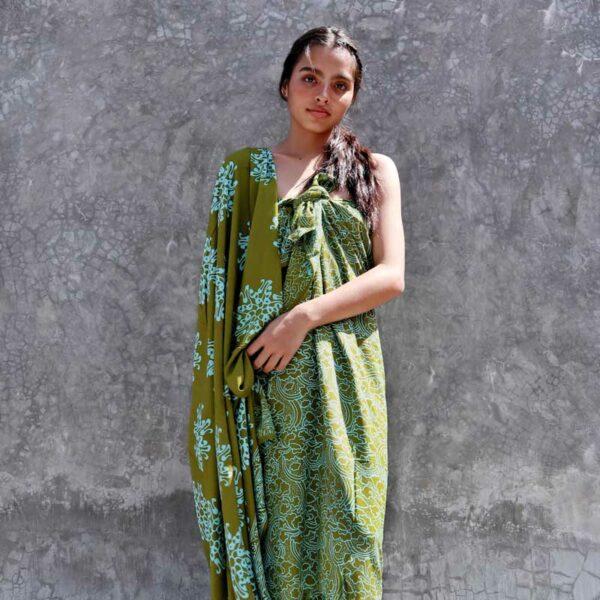 Batik Sarong Rayon Green Fizz