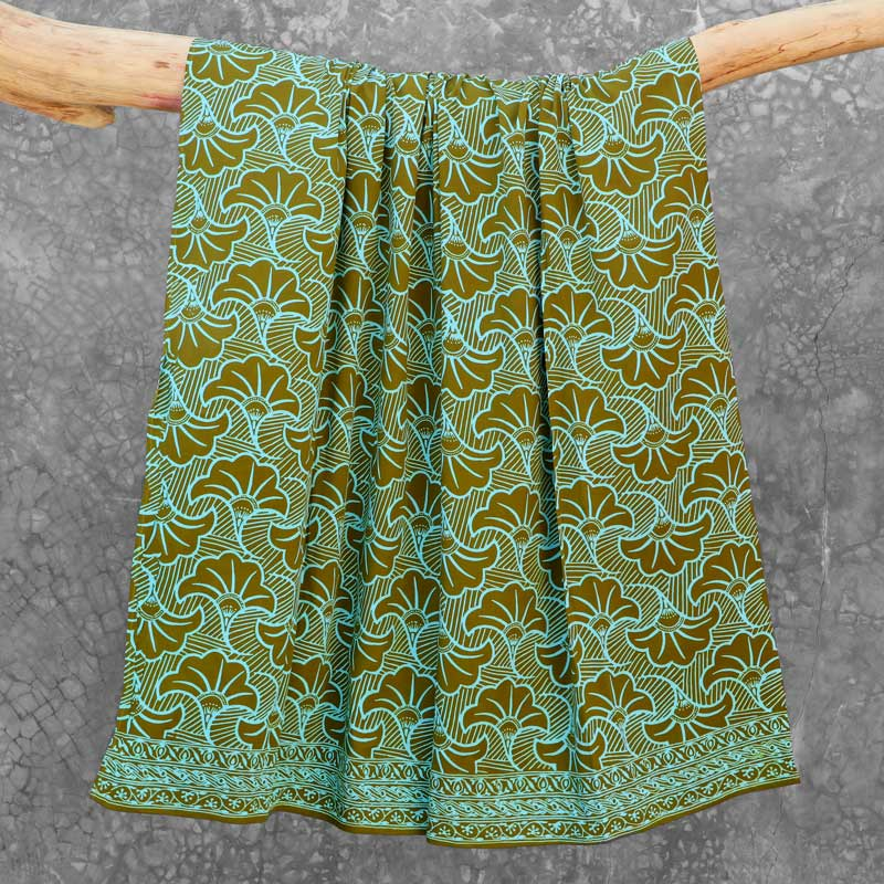 Batik Sarong Rayon Green Fizz Wedding Flowers