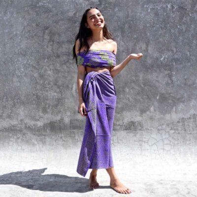 Batik Sarong – Rayon – Lavender Green