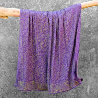 Batik Sarong Rayon Lavender Green Clouds