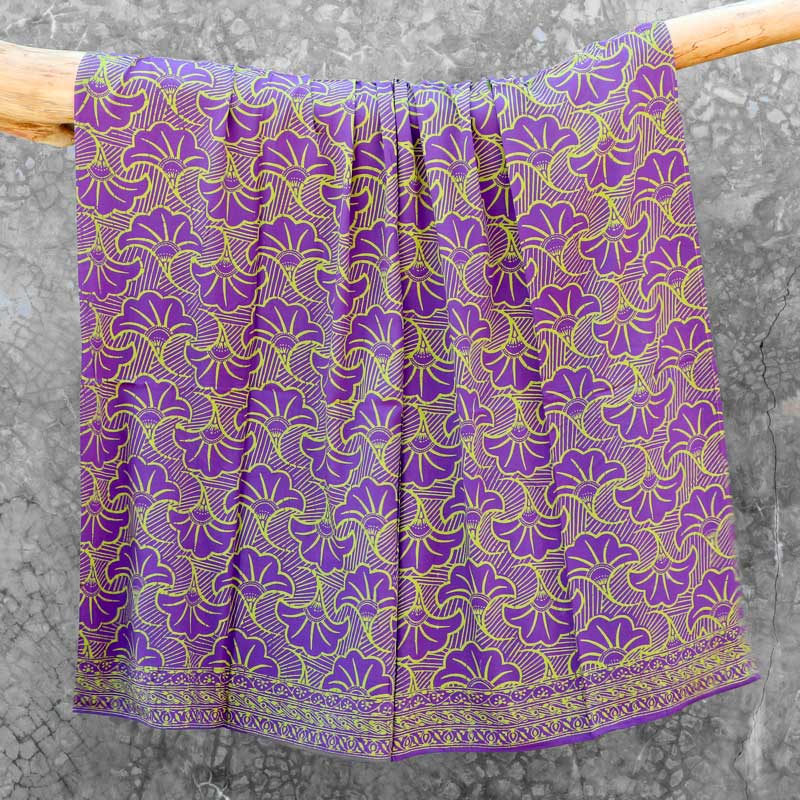 Batik Sarong Rayon Lavender Green Wedding Flowers