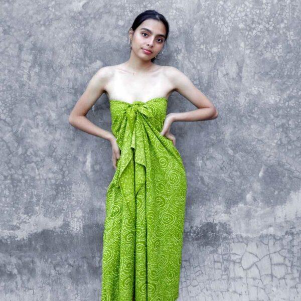 Batik Sarong Rayon Lime Delight