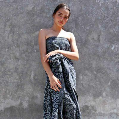 Batik Sarong – Rayon – Midnight