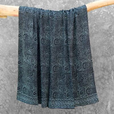 Batik Sarong Rayon Midnight African Swirl