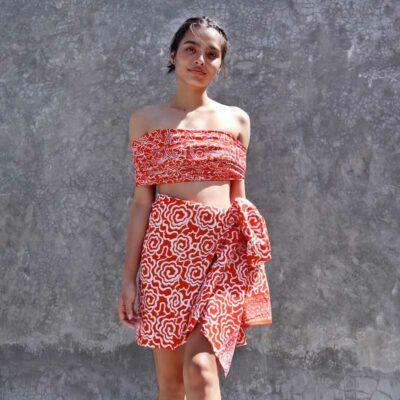 Batik Sarong – Rayon – Orange Surprise