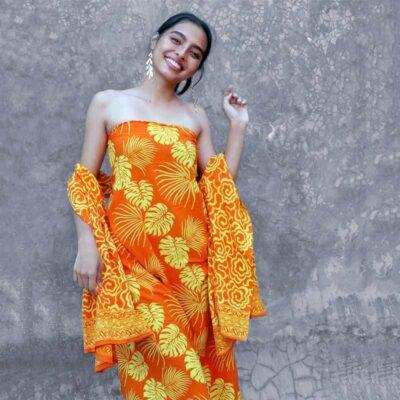 Batik Sarong – Rayon – Orangina