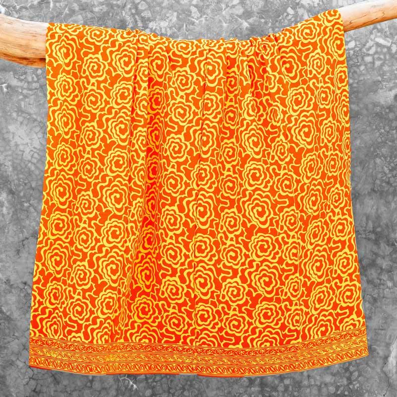 Batik Sarong Rayon Orangina Mim Flowers
