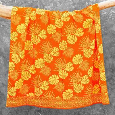 Batik Sarong Rayon Orangina Tropical Leaves