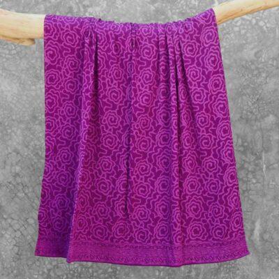 Batik Sarong Rayon Purple Dream Mim Flowers