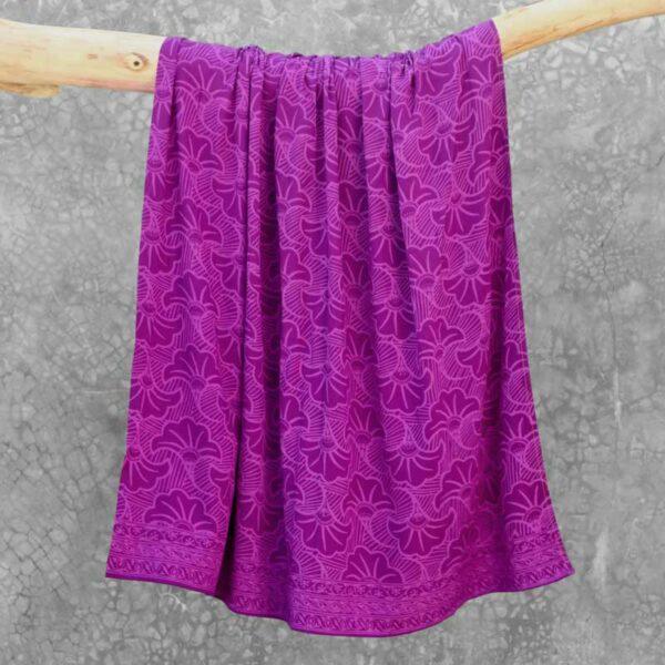 Batik Sarong Rayon Purple Dream Wedding Flowers
