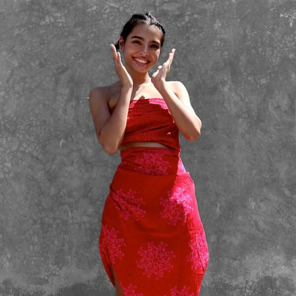 Batik Sarong Rayon Raspberry