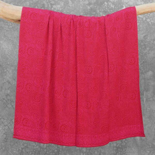 Batik Sarong Rayon Raspberry African Swirl
