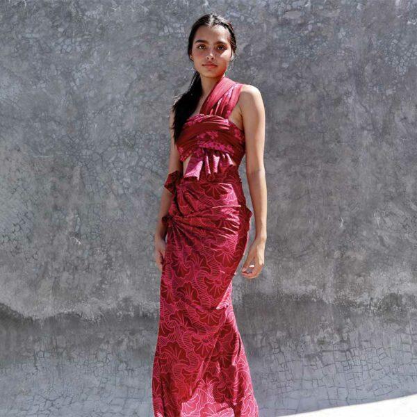 Batik Sarong Rayon Sangria