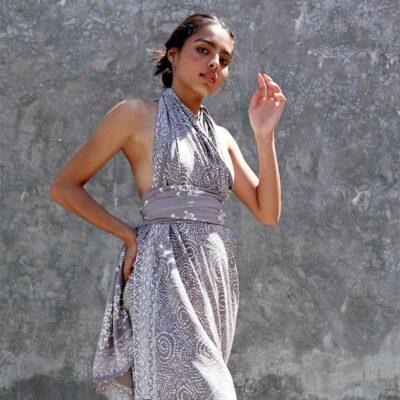 Batik Sarong – Rayon – Silver Slate