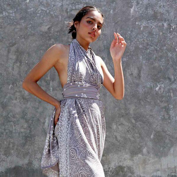 Batik Sarong Rayon Silver Slate
