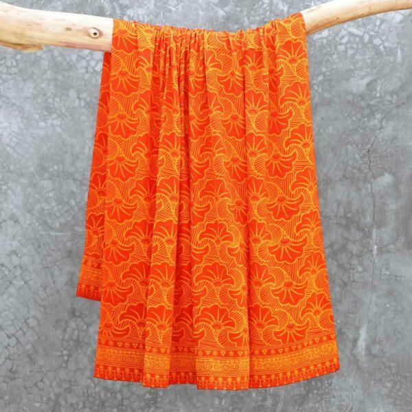 Batik Sarong Rayon Tangerine Frenzy Wedding Flowers