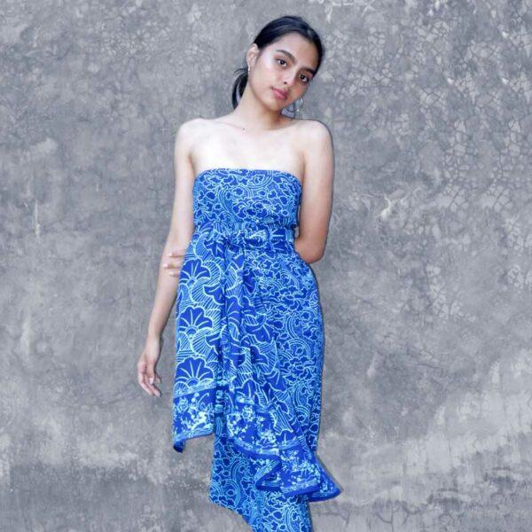 Batik Sarong Rayon Turquoise Blue