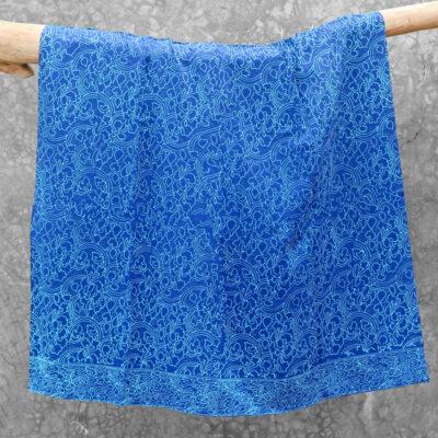 Batik Sarong Rayon Turquoise Blue Clouds