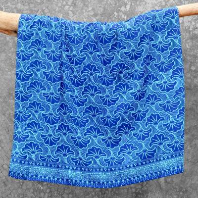 Batik Sarong Rayon Turquoise Blue Wedding Flowers
