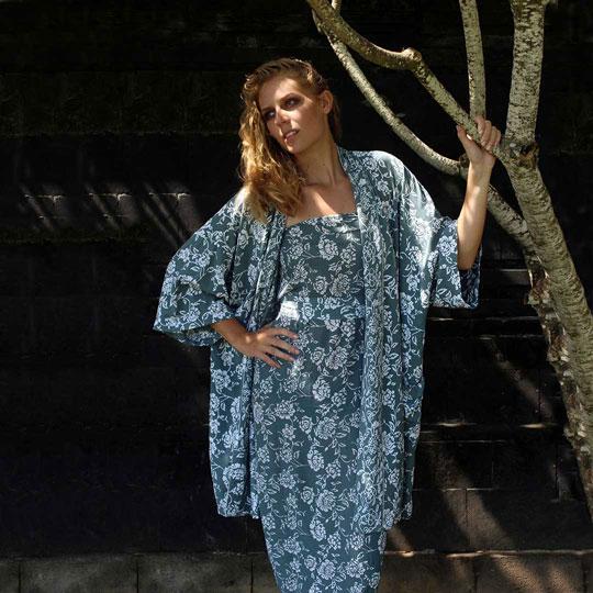 Lookbook Batik Resort Wear Clothing Kimono Jacket Sarong Wrap