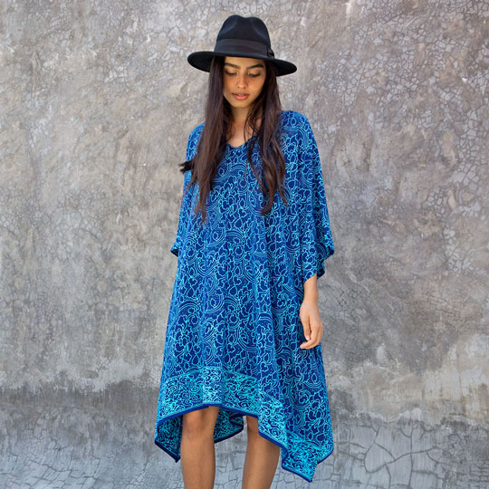 Lookbook Batik Resort Wear Clothing Poncho