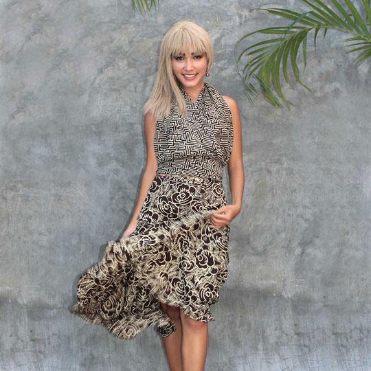 Lookbook Batik Resort Wear Clothing Skirt Sarong Wrap