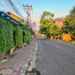 Senada Batik Bali Covid19 Empty Bali Streets