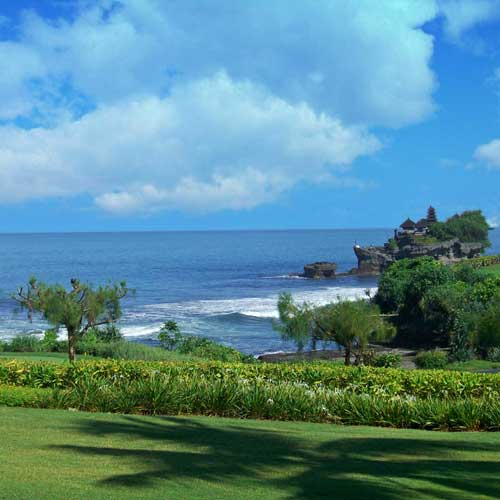 Senada Batik Bali Wonderful Island Of Bali Tanah Lot